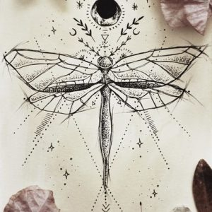 dragonfly tattoos designs for women