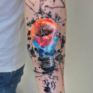 watercolor tattoos for men pictures