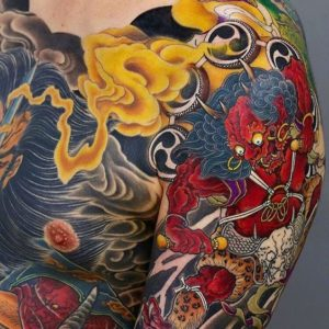 Traditional Japanese Tattoo Shoulder Chest