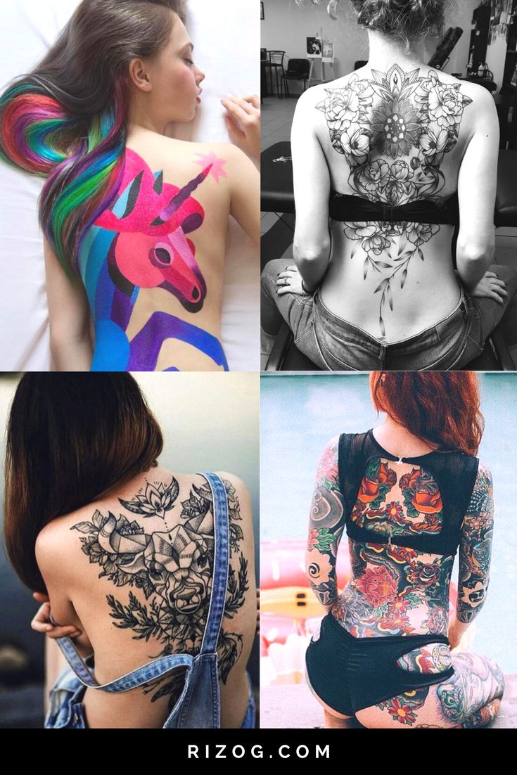Large back tattoos for women